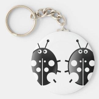Black Ladybugs Key Chain