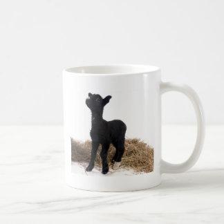 black lamb classic white coffee mug