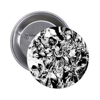 Black Lantern Corps - Black and White Button