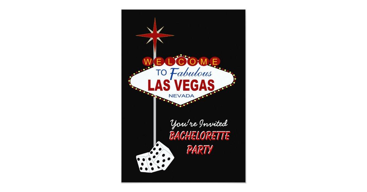 Black Las Vegas Bachelorette Party Invitation | Zazzle.com