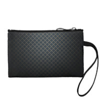 Black Lattice Pattern Coin Wristlet / Bag