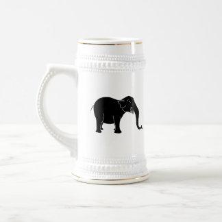 Black Laughing Elephant. Beer Stein