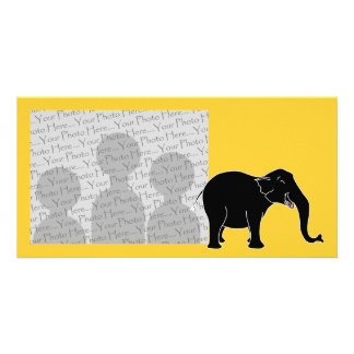Black Laughing Elephant. Card