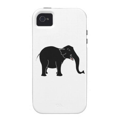 Black Laughing Elephant. iPhone 4/4S Covers