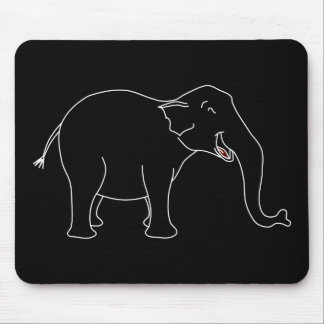 Black Laughing Elephant. Mouse Pad