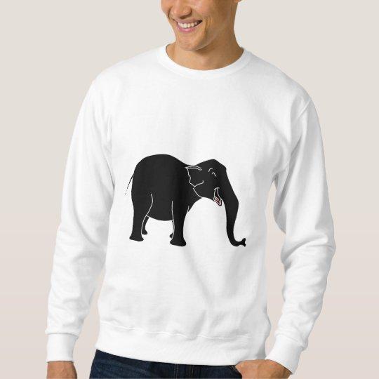 Black Laughing Elephant. Sweatshirt