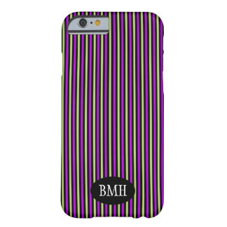 Black, Lavender & Lime Vertical Stripes Pattern Barely There iPhone 6 Case