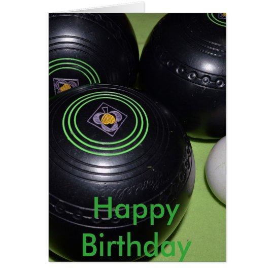 Black Lawn Bowls Birthday Card Zazzle