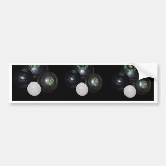 Black_Lawn_Bowls_Pattern,_ Bumper Sticker