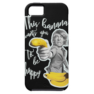 Black layer this banana wants that you are happy iPhone SE/5/5s case