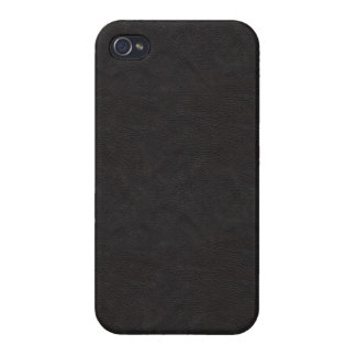 Black Leather 2 iPhone 4/4S Case