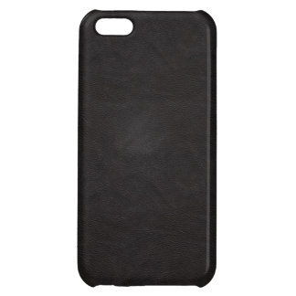 Black Leather 2 iPhone 5C Covers
