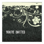 Black Leather and Lace Invitation