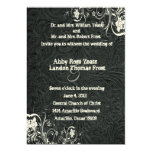 Black Leather and White Lace Wedding Invitation