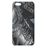 Black Leather Boots and Blue Jean Denim Cover For iPhone 5C
