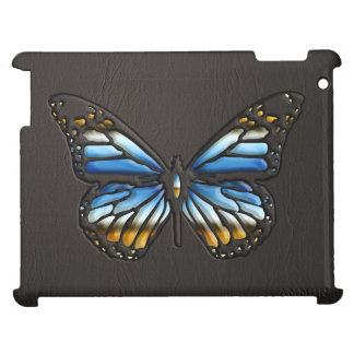 Black Leather Butterfly with Jewels 1 Print iPad iPad Cases