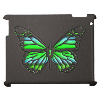 Black Leather Butterfly with Jewels 2 Print iPad iPad Cover