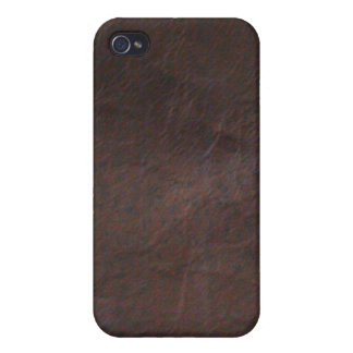 Black Leather Cover For iPhone 4