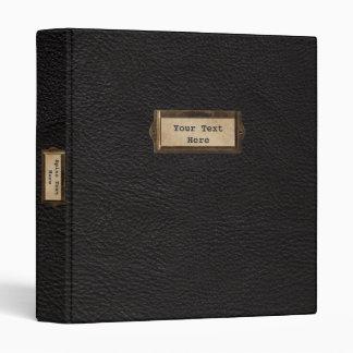 Black Leather Custom 1.5 inch Binder