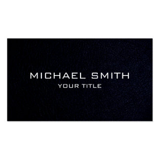 Black leather Double-Sided standard business cards (Pack of 100)