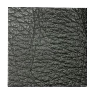 Black Leather Effect Ceramic Tile