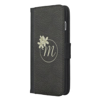 Black Leather Effect iPhone 6 Plus Wallet Case