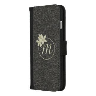 Black Leather Effect iPhone Plus Wallet Case