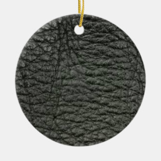 Black Leather Effect Christmas Tree Ornaments