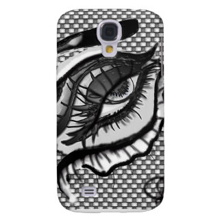 Black Leather Eyes iPhone 3G Case Galaxy S4 Case