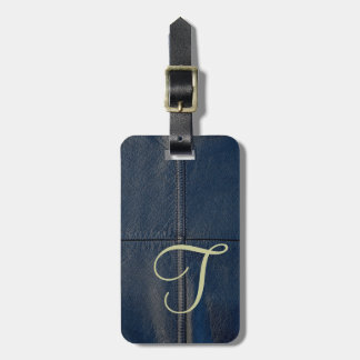 Black Leather Faux Look Seam Bag Tag