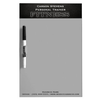 Black Leather Fitness Dry Erase Board