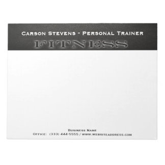 Black Leather Fitness Notepad