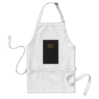 Black Leather Holy Bible Cover Adult Apron