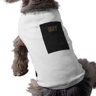 Black Leather Holy Bible Cover Doggie Tshirt