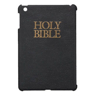 Black Leather Holy Bible Cover iPad Mini Covers