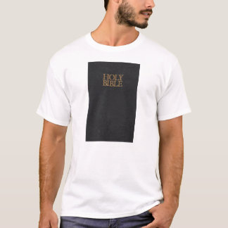 Black Leather Holy Bible Cover T-Shirt