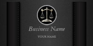 Black Leather Lawyer Personalize Desk Business Card Holder