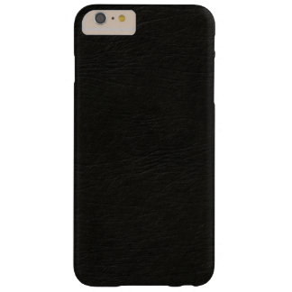 Black Leather Look Barely There iPhone 6 Plus Case
