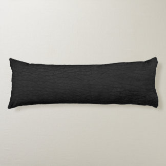 Black leather look body pillow