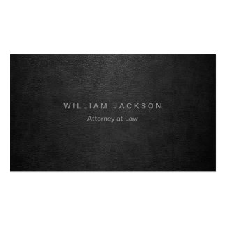 Black Leather Look Double-Sided Standard Business Cards (Pack Of 100)