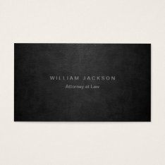 Black Leather Look Business Card at Zazzle