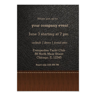 Black leather look card