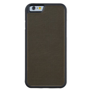Black Leather Look Carved® Maple iPhone 6 Bumper