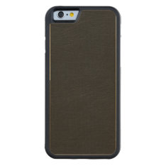 Black Leather Look Carved Maple Iphone 6 Bumper Case at Zazzle