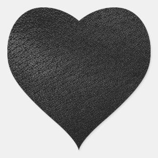 Black Leather Look Heart Sticker
