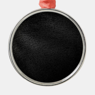 Black Leather Look Metal Ornament