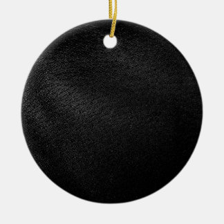 Black Leather Look Ornament