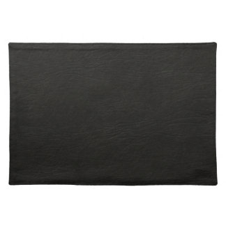 Black Leather Look Placemat