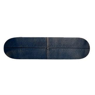 Black Leather Look Skate Board