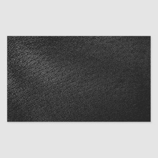 Black Leather Look Rectangle Sticker